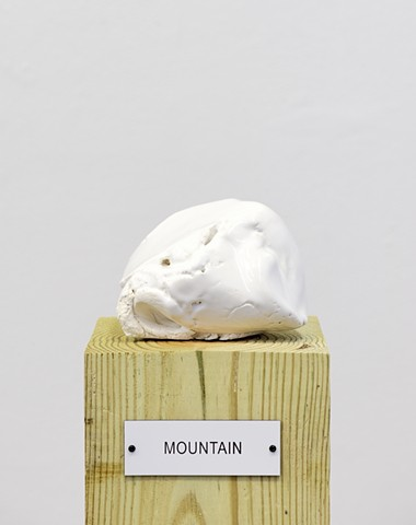 "Detail: Untitled (Plinth Studies with Ambiguous Nameplate Augmentation) [""Mountain""]"