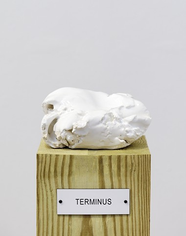 "Detail: Untitled (Plinth Studies with Ambiguous Nameplate Augmentation) [""Terminus""]"