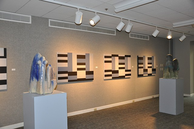 George Schroeder - Paintings and Collages & Dave Thomas - Ceramic Sculpture