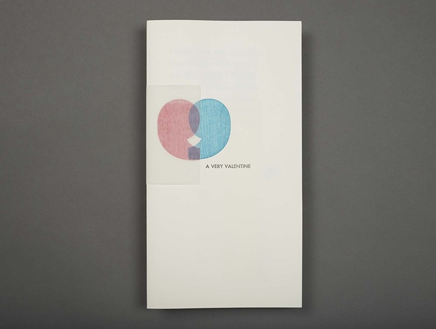 letterpress folios with text by Gertrude Stein