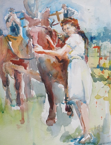 Summer Outting Circa 1945  (SOLD)