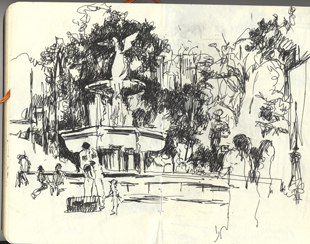 Bethesda Fountain/saxophone player