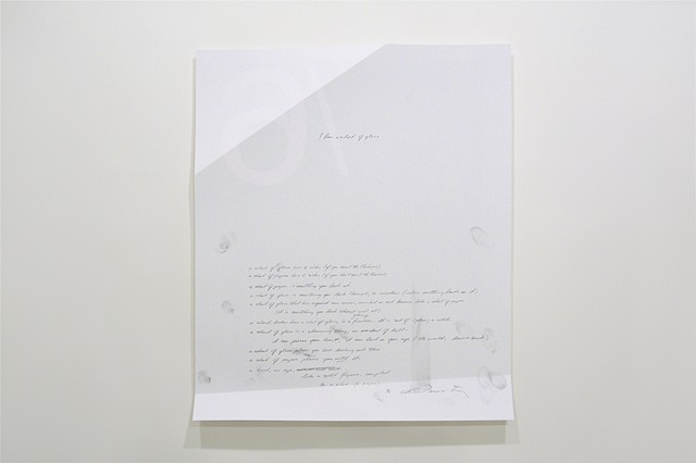 6 Figures (from a sheet of glass) Colophon Page