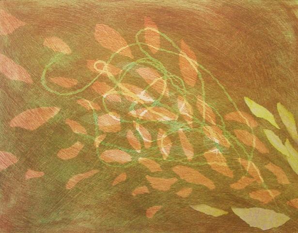"Monotype print ""Wind Bridge"" by Aijung Kim"