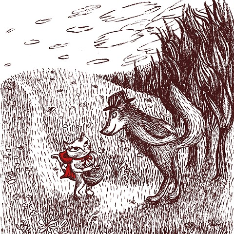 """""""Little Red Riding Hood"""" children's book illustration by Aijung Kim / www.aijungkim.com / www.sprouthead.etsy.com"""