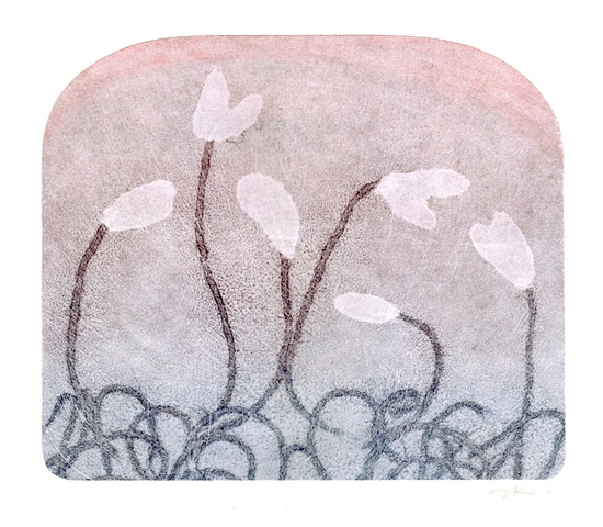 "Monotype print ""Morning Sprouts"" by Aijung Kim"