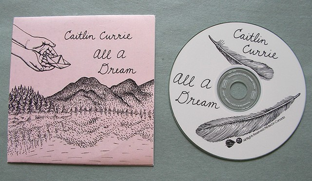 "Album and CD art by Aijung Kim for Caitlin Currie's EP ""All A Dream."""