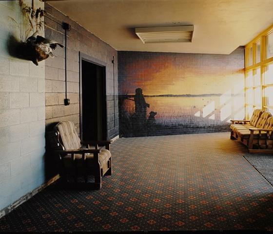 Mural, Central Flyway Outfitters, Formerly Kramer School, Closed 1991, Kramer, North Dakota 2003
