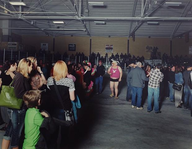 Spang, Dirty Ores Roller Derby Night, Hippodrome, Eveleth, Minnesota 2015