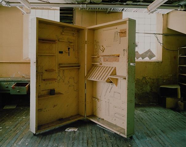 Shop, Bowdon School Closed 2001, Bowdon, North Dakota  2004