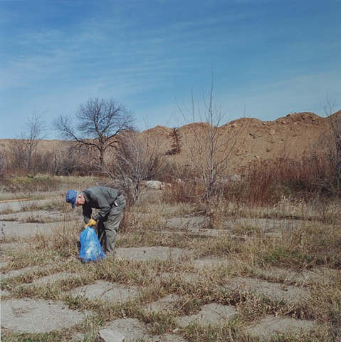 Bill At The Site Of His Home, Mountain Iron, Minnesota 1995