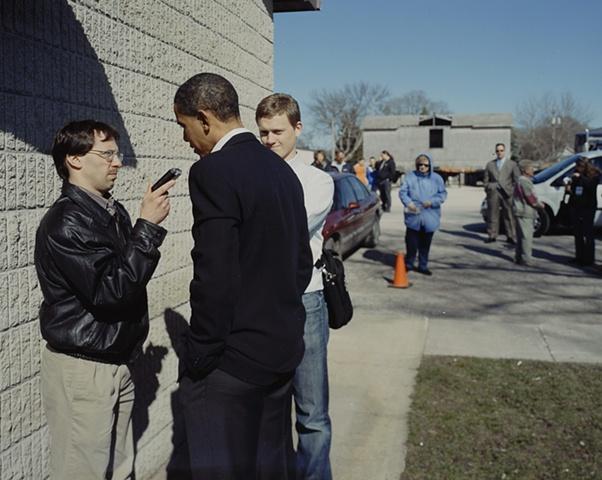 Barack Obama Impromptu Interview, VFW Post 5240, Dakota City, Iowa. April 15. 2007