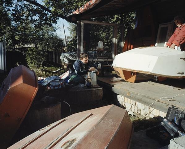 Repairing Boats at Alexander's
