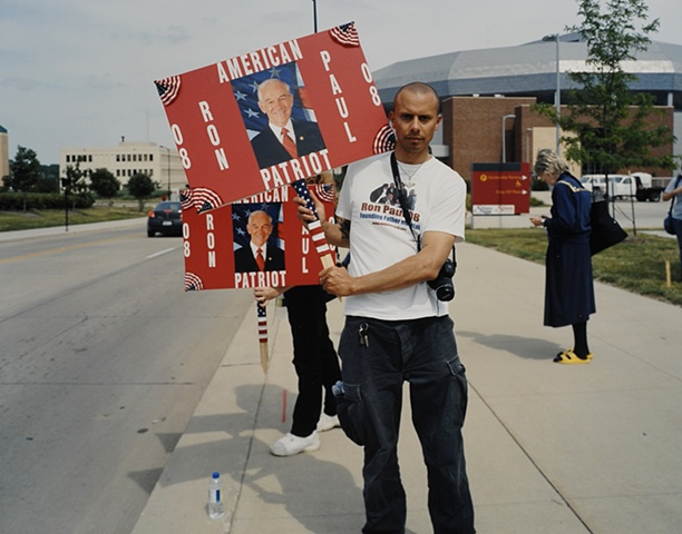 Valek, Rally for Ron Paul, Des Moines, Iowa, June 30, 2007.