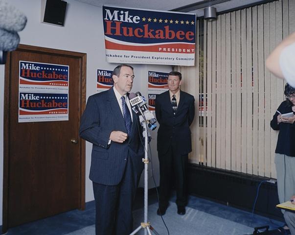 Mike Huckabee and Bob Vander Plaats, Grand Opening Huckabee for President Iowa Headquarters, Des Moines, Iowa. June 13, 2007