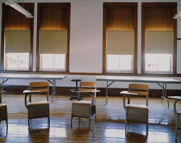 Classroom Upham School, Closed 2003, Upham, North Dakota 2003