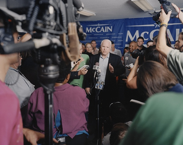 John McCain Press Conference to announce he will continue with his campaign, Urbandale, Iowa.  July 22, 2007