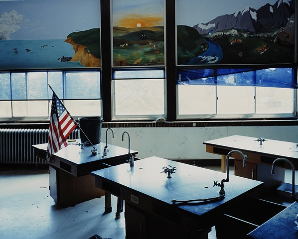 Science Room, Veblen High School, Closed 2003, Veblen, South Dakota 2004