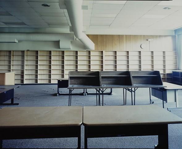 Library, Albrook School, Saginaw, Minnesota 2012. Closed 2011