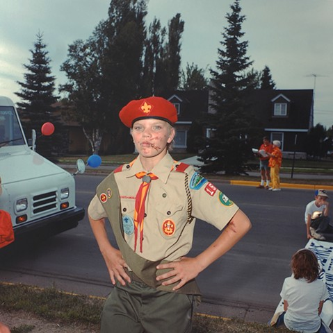 Boy Scout, July 3rd Parade, Aurora, Minnesota 1988