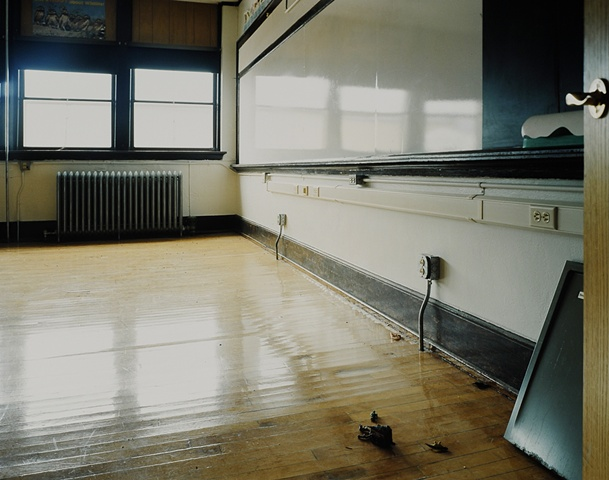 Classroom, Harrold School, Closed 2009, Harrold, South Dakota 2010
