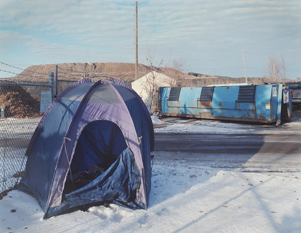 Tent, From Recycling Center, Eveleth, Minnesota 2014