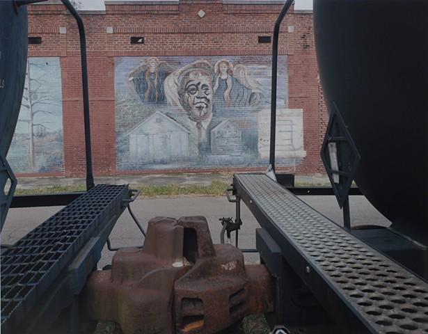 Sonny Boy Williamson Mural, Tutwiler, Mississippi 2016