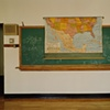 Classroom With Map, Willow City School, Closed 2003, Willow City, North Dakota 2003