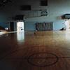 Gym, Steamboat Rock High School, Closed 1999, Steamboat Rock, Iowa  2003