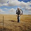 Gaylene repairing his fences, Porcupine, South Dakota  2003