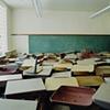 Desks, Bowdon School,Closed 2001, Bowdon, North Dakota  2004