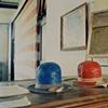 Duplex Process Waterproof Hats, Pioneer Trails Museum, Hanks, North Dakota 2009