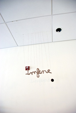 I'm fine. (installation view)