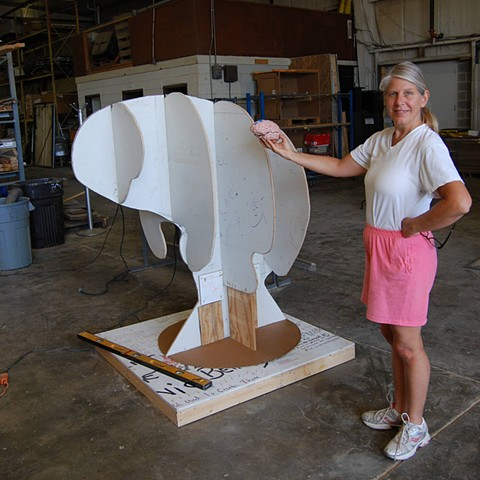 collaborative public art project using recycled materials with community by Joe LaMantia and Dr. Jill Bolte Taylor