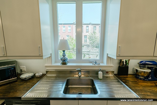 Large window over the sink
