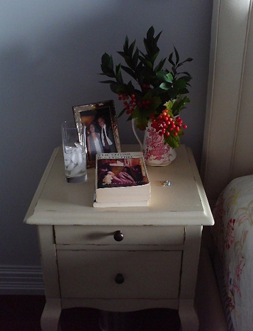 Small bedside tables for a small bedroom by Jane Interiors NYC