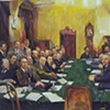 "Leniniana no. 8, after Dmitriy Kardovsky, "" Meeting of the People's Commissariat with V.I. Lenin at the Head"""