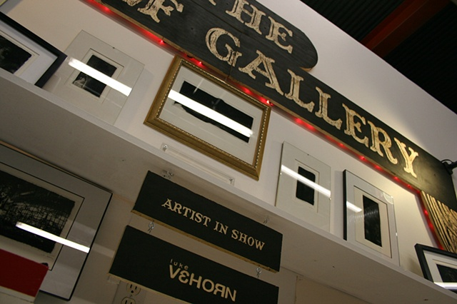 Artist Luke Vehorn solo show at the Shelf Gallery at Redux Contemporary Art Center Charleston SC USA