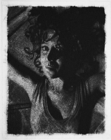 Mezzotint Portrait by artist Luke Vehorn , Subject Artist Katie Guthrie