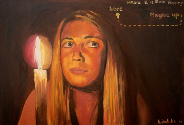 Oil on Canvas Oil Painting by artist Luke Vehorn collaboration with Lindsey Miller