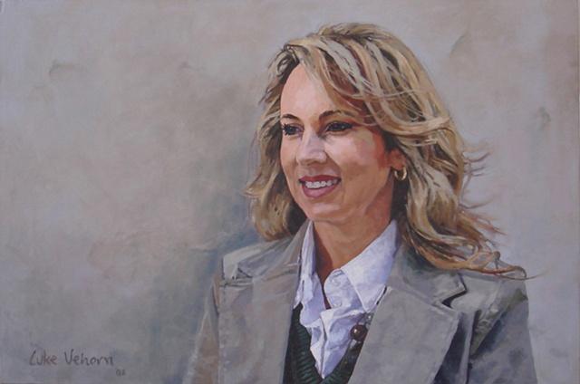 Oil on Canvas Oil Painting by artist Luke Vehorn , Subject Shane Ann winemaker's wife