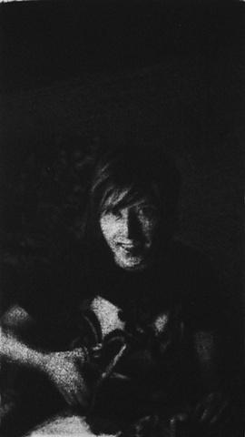 Mezzotint Portrait by artist Luke Vehorn , Subject Artist Karin Olah