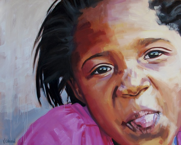 Artist Luke Vehorn Original Oil Painting Positive Change Project Contemporary Portrait Painter