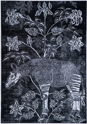 'Okapi and Foliage'