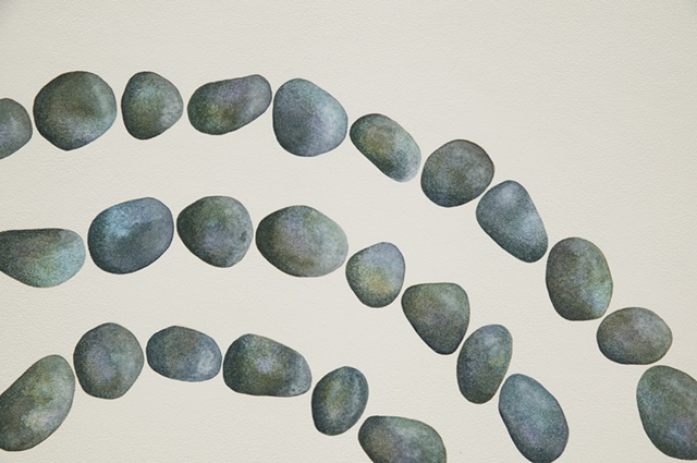 3 Concentric Pebble Rings (Detail)