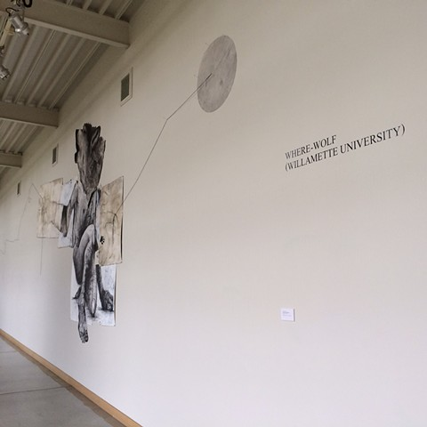 Installation Wall Drawing, Willamette University, Rodgers Gallery