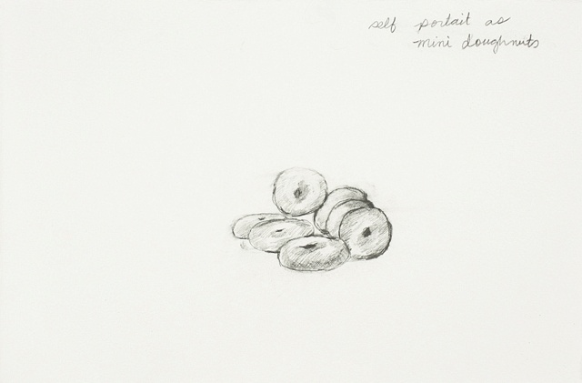 self portrait as mini doughnuts