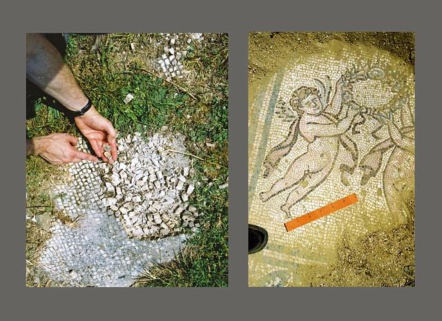 Mosaics at Ostia Antica, Italy