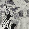 M. Thompson Utopia/Dystopia self-portrait Beginning Drawing