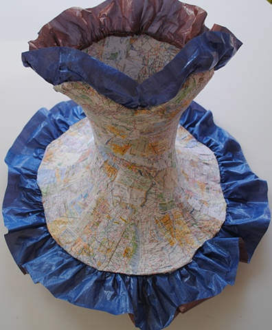 Bodice with road maps